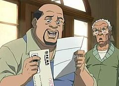 "Cousin Jericho and Robert Freeman in The Boondocks infamous episode, ""Invasion of the Katrinians"""