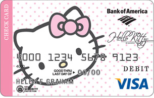Hello Kitty Debit Card from Bank of America
