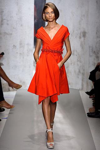DK_orange wrap dress