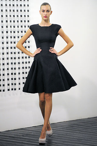 DVB black flared dress