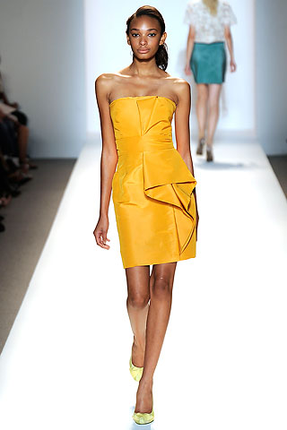 Lela Rose yellow cocktail dress