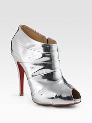 Silver Louboutin Rocker Boot