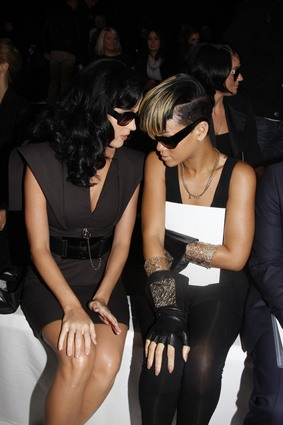 Katy Perry and Rihanna at Karl Lagerfeld