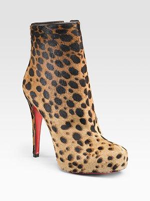Christian Louboutin Leopard Boots